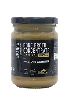 Bone Broth Concentrate – Natural 260gm Meadow & Marrow - Healthhub247.com