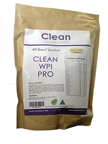 Clean WPI Pro All Natural Protein Natural Vanilla 1kg -Clean Science Nutrition - Healthhub247.com