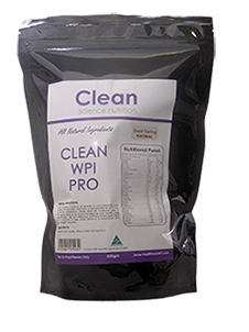 Clean WPI Pro All Natural Protein Plain 500gm -Clean Science Nutrition - Healthhub247.com