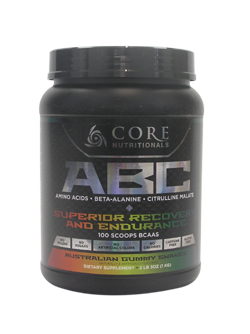 Core Nutritionals ABC Superior Recovery and Endurance 1kg 100 Scoops 50 serves Aussie White Gummy Snake - Healthhub247.com