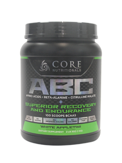 Core Nutritionals ABC Superior Recovery and Endurance 1kg 100 Scoops 50 serves White Appletini - Healthhub247.com