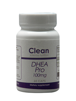 DHEA PRO 100mg 60 Capsules Clean Science Nutrition