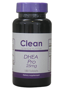 DHEA Pro 25mg 180 Tablets Clean Science Nutrition