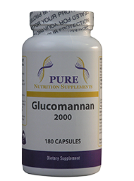 Glucomannan - Konjac Root 2000mg 180 Capsules-Pure Nutrition Supplements - Healthhub247.com