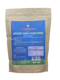 Inulin Fiber 100% Pure Powder-Best Price and Value SunOrganics Australian Made - Healthhub247.com