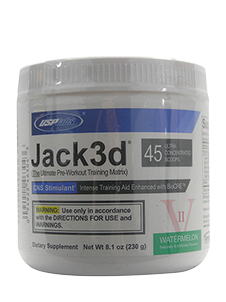 Jack3D USP Labs Pre Workout Watermelon 230gm 45 Serves -With Yohimbe