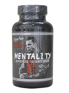 MENTALITY 90 caps Pre Workout Energy Focus Motivation Rich Piana 5% Nutrition