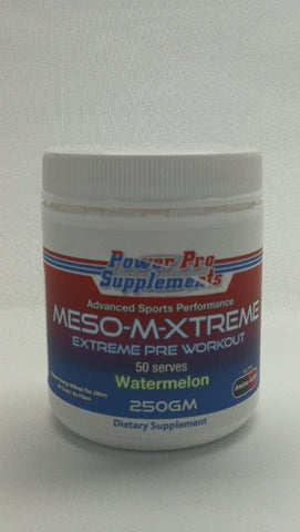 MESO-M-XTREME PreWorkout Watermelon 50 serves 250g Better Than Mesomorph Original -Power Pro Supplements - Healthhub247.com