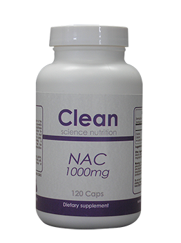 N-Acetyl-L-Cysteine (NAC) 1000mg 120 Tablets Clean Science Nutrition