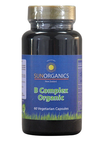 SunOrganics B-Complex with Cultured Nutrients & Organic Food 60 vegetarian capsules - Healthhub247.com