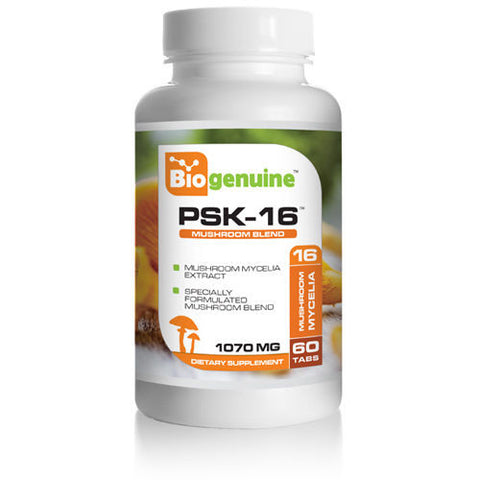 Biogenuine PSK 16 Natural Mushroom Blend 1070 mg 60 Tabs