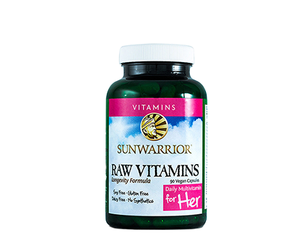 Raw Vitamins For Her 90 Capsules Sunwarrior - Healthhub247.com