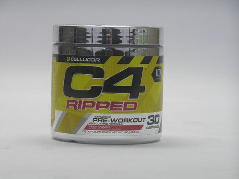 C4 RIPPED 30 Serves Explosive Pre-workout and Fat Cutting formula Fruit Punch-Cellucor - Healthhub247.com