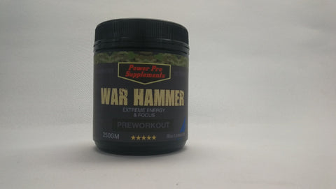WAR HAMMER (Better Than Total War) 50 Serves Powerful Extreme Energy -Blue Lemonade - Healthhub247.com