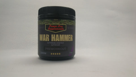 WAR HAMMER (Better Than Total War) 50 Serves Powerful Extreme Energy -Grape - Healthhub247.com