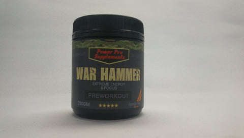 WAR HAMMER (Better Than Total War) 50 Serves Powerful Extreme Energy -Orange Fizz - Healthhub247.com