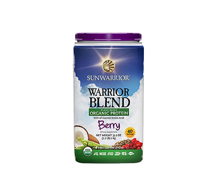 Warrior Blend Protein Berry 1kg Raw Vegan Sunwarrior
