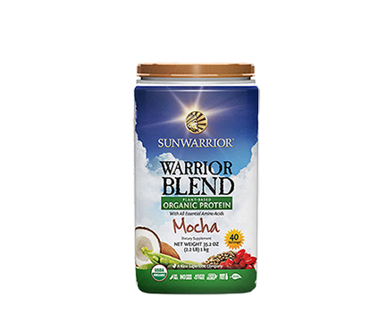 Warrior Blend Protein Mocha 1kg Raw Vegan Sunwarrior - Healthhub247.com