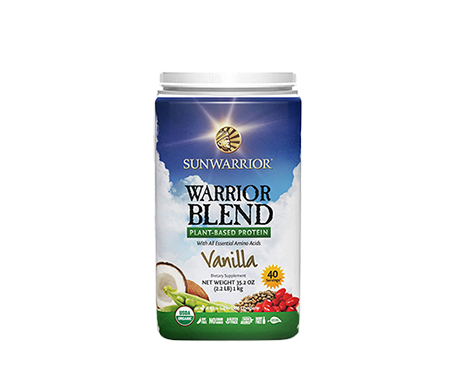 Warrior Blend Protein Vanilla 1kg Raw Vegan Sunwarrior - Healthhub247.com