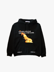 PLAY WITH FIRE HOODIE IN BLACK