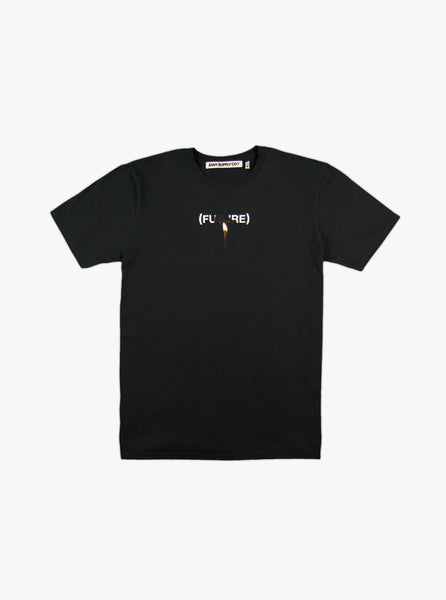 PLAY WITH FIRE TEE IN BLACK