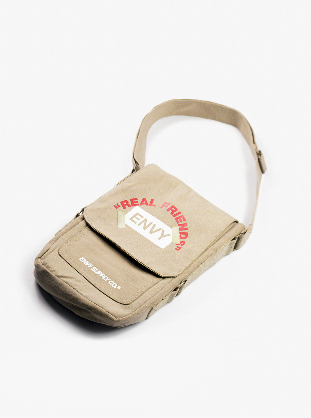 REAL FRIENDS SIDEBAG IN KHAKI