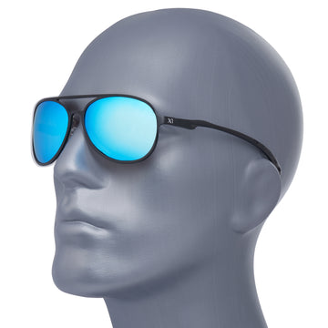 X1 - Matte Black (Blue Lenses)