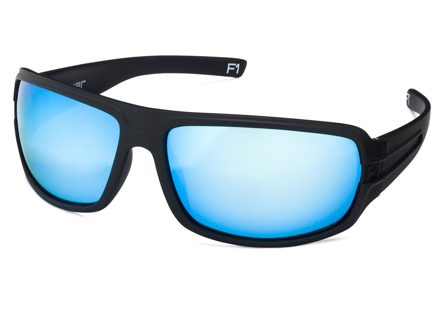 F1 - Matte Black (Blue Lenses)
