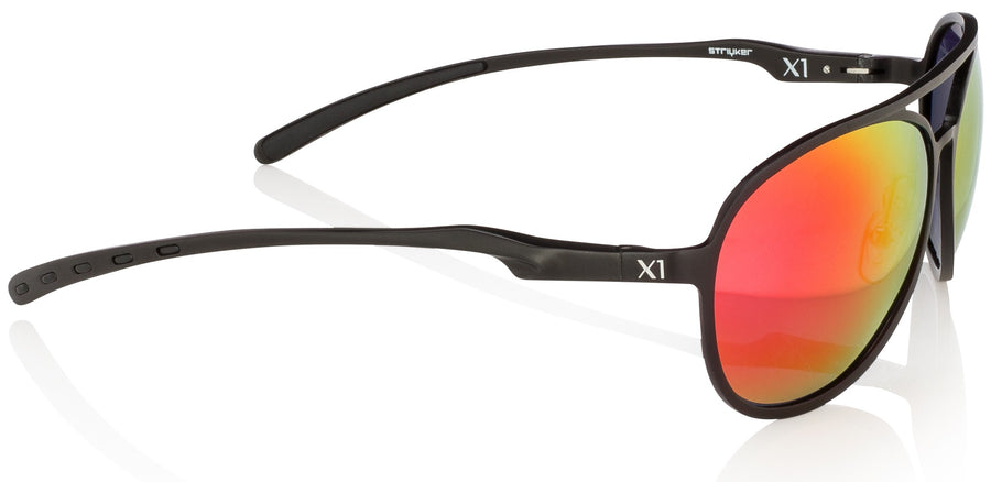 X1 - Matte Black (Red Lenses)