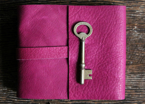 Bougainvillea Pink Leather Journal