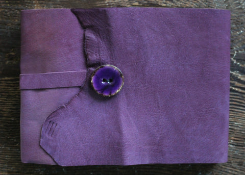 Fields of Lavender Leather Sketchbook - SOLD