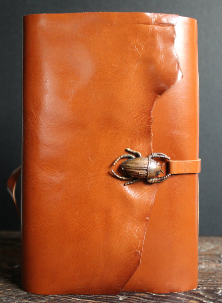 Scarab Leather Journal SOLD