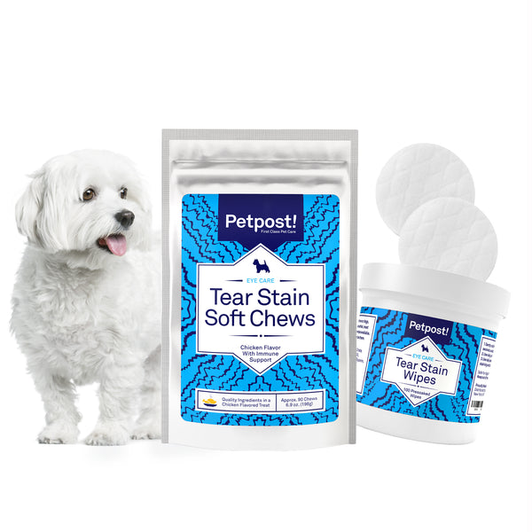 Essential Dog Tear Stain Kit for White Fur with Eye Stains | Petpost™