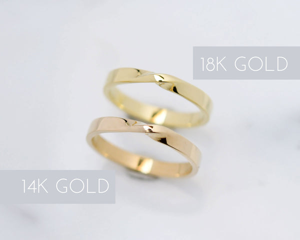 open ring available in rose yellow or white gold solid gold ring in 9k rose gold