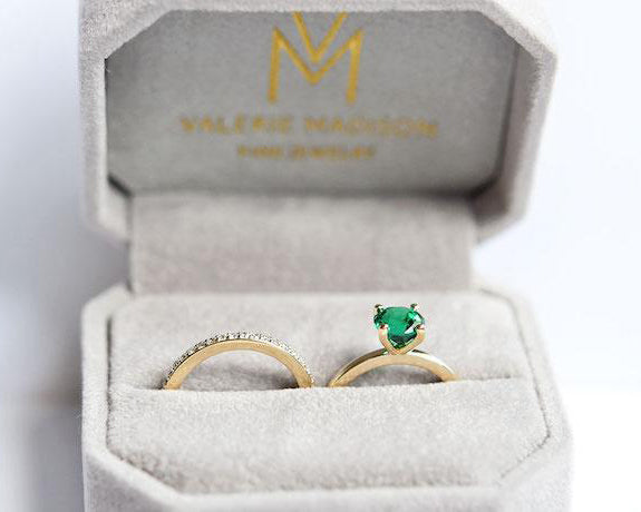 Emerald rings for May babies