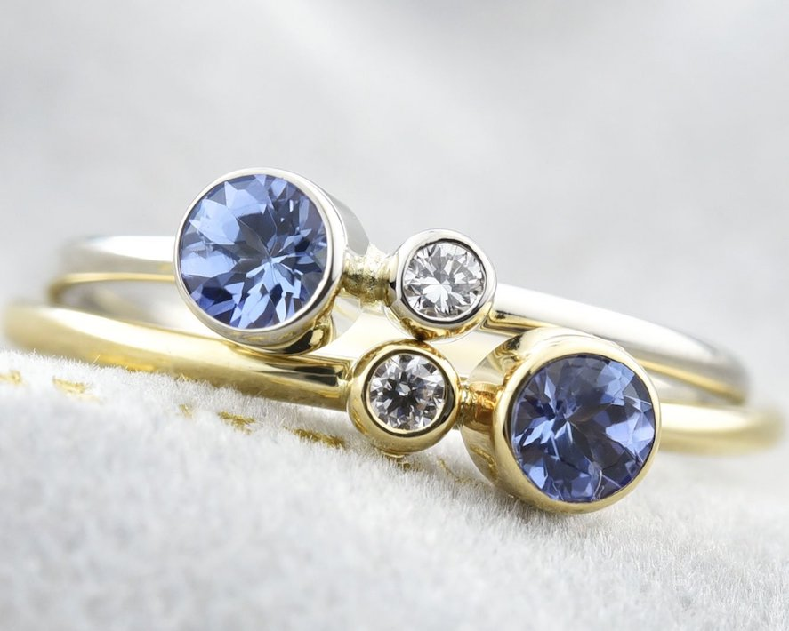 December Birthstones: turquoise, tanzanite, & zircon