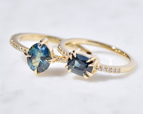 September birthstone rings with blue Sapphires