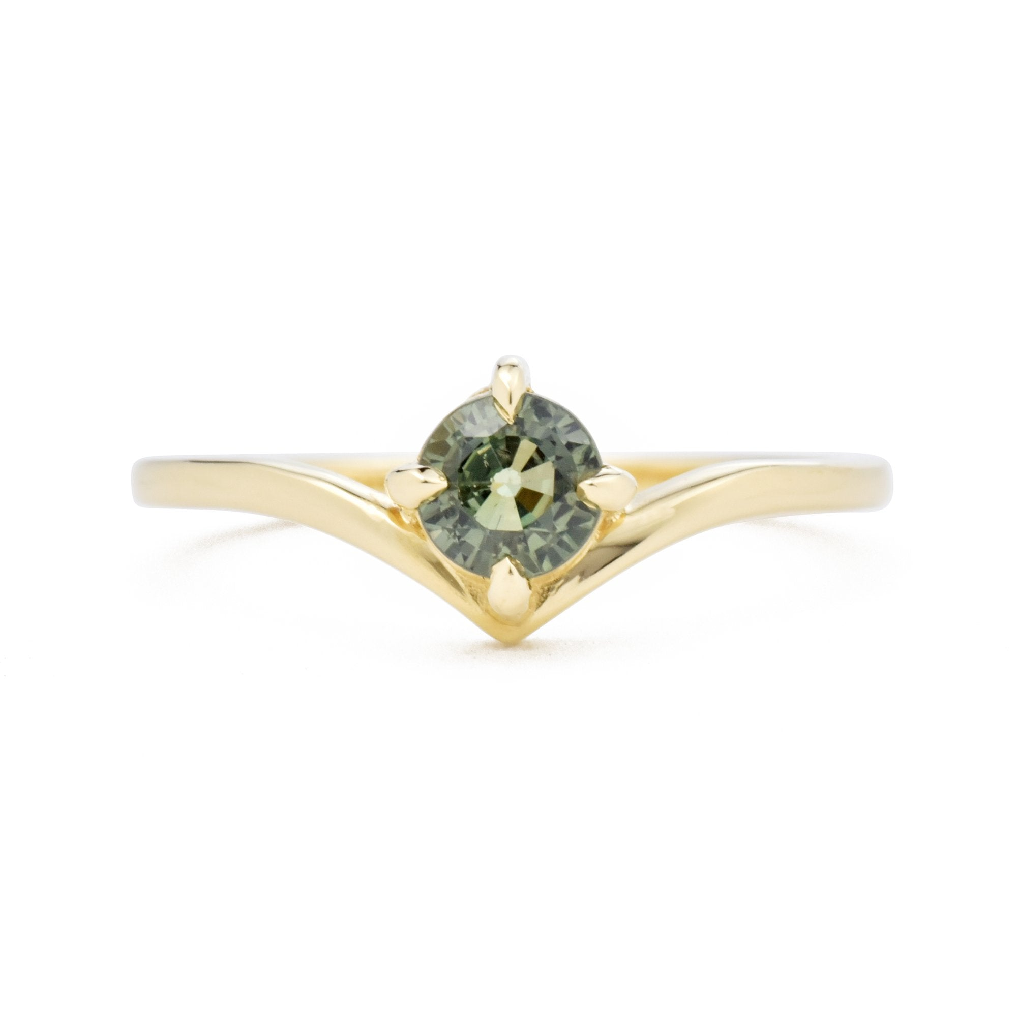 0.70ct SuperNova Green Sapphire Engagement Ring