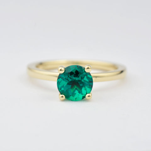 Custom Chatham Emerald Engagement Ring