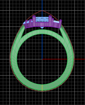 CAD modeling of a sapphire ring
