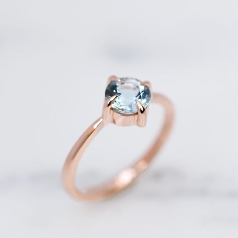 Custom Aquamarine Engagement Ring