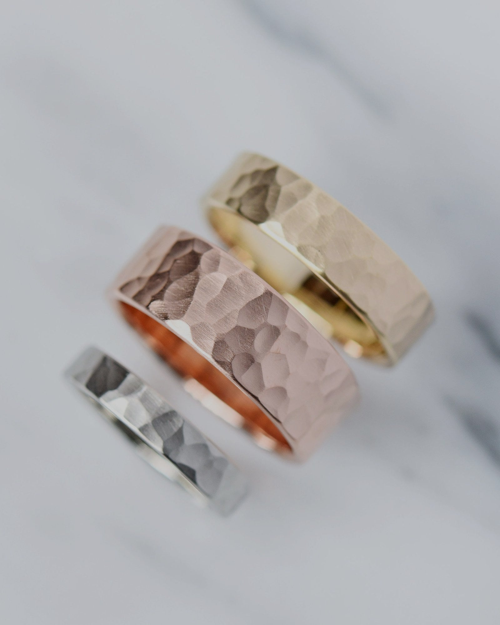 Masculine Wedding Bands from Valerie Madison
