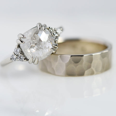White Gold Engagement Ring & Wedding Band
