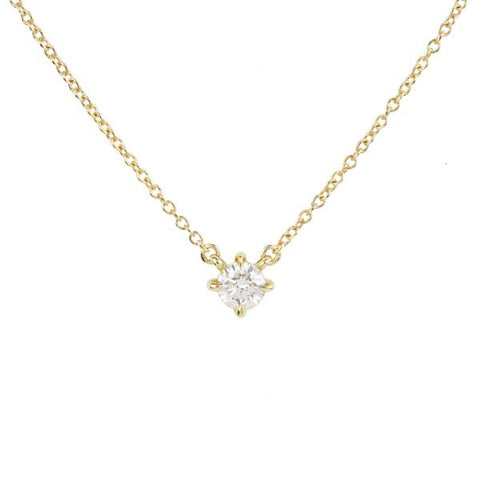 Eva Diamond Solitaire Necklace