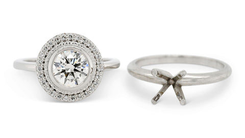 Reuse your old diamond in an engagement ring!