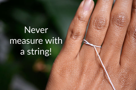 Never measure with a string