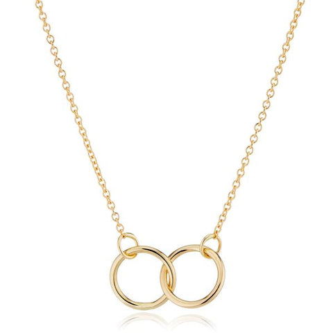 14K Gold Interlocking Circle Necklace