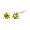 14K Small Birthstone Studs (3mm)