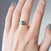 1.37ct Eva Montana Sapphire & Pavé Diamond Engagement Ring (Size 6)