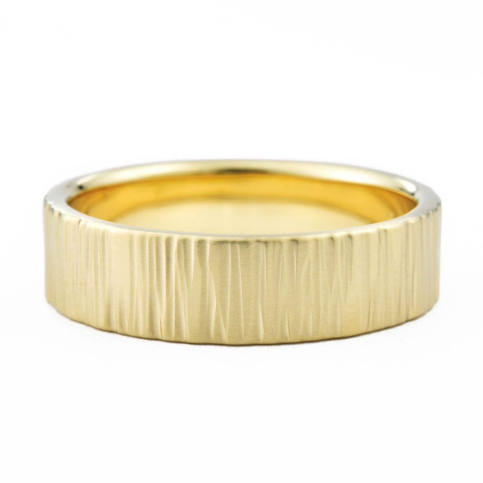 6mm Men's Birch Wedding Band in yellow gold